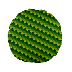 Dragon Scale Scales Pattern Standard 15  Premium Flano Round Cushions
