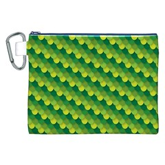 Dragon Scale Scales Pattern Canvas Cosmetic Bag (XXL)