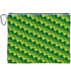 Dragon Scale Scales Pattern Canvas Cosmetic Bag (XXXL)