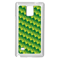 Dragon Scale Scales Pattern Samsung Galaxy Note 4 Case (White)