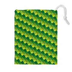 Dragon Scale Scales Pattern Drawstring Pouches (Extra Large)