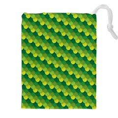 Dragon Scale Scales Pattern Drawstring Pouches (xxl)