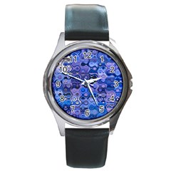 Background Texture Pattern Colorful Round Metal Watch