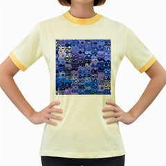 Background Texture Pattern Colorful Women s Fitted Ringer T-Shirts