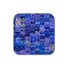Background Texture Pattern Colorful Rubber Coaster (Square)