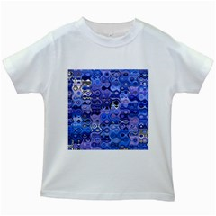 Background Texture Pattern Colorful Kids White T Shirts