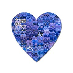 Background Texture Pattern Colorful Heart Magnet