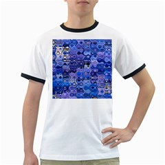 Background Texture Pattern Colorful Ringer T-Shirts