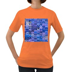 Background Texture Pattern Colorful Women s Dark T Shirt