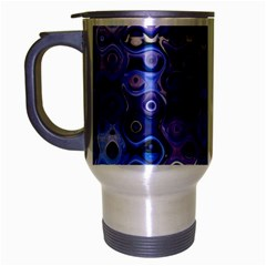 Background Texture Pattern Colorful Travel Mug (Silver Gray)