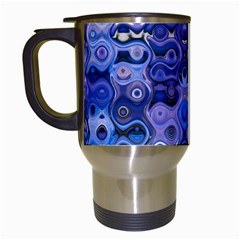 Background Texture Pattern Colorful Travel Mugs (White)