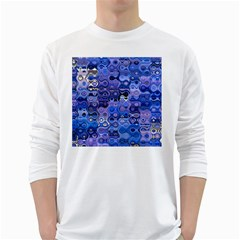 Background Texture Pattern Colorful White Long Sleeve T Shirts