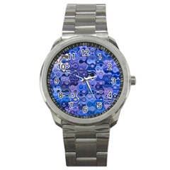 Background Texture Pattern Colorful Sport Metal Watch
