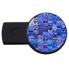 Background Texture Pattern Colorful Usb Flash Drive Round (4 Gb)