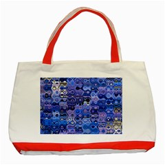 Background Texture Pattern Colorful Classic Tote Bag (red)