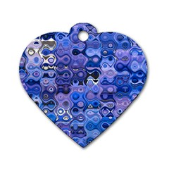 Background Texture Pattern Colorful Dog Tag Heart (two Sides)