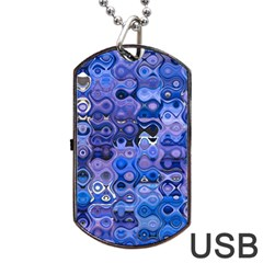 Background Texture Pattern Colorful Dog Tag Usb Flash (two Sides)