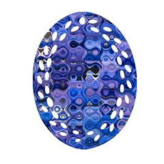 Background Texture Pattern Colorful Oval Filigree Ornament (Two Sides)