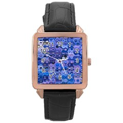 Background Texture Pattern Colorful Rose Gold Leather Watch