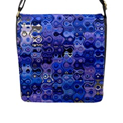 Background Texture Pattern Colorful Flap Messenger Bag (l)