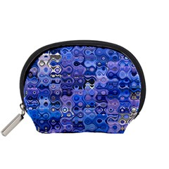 Background Texture Pattern Colorful Accessory Pouches (small)