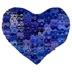 Background Texture Pattern Colorful Large 19  Premium Flano Heart Shape Cushions