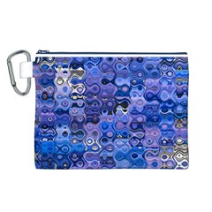 Background Texture Pattern Colorful Canvas Cosmetic Bag (l)