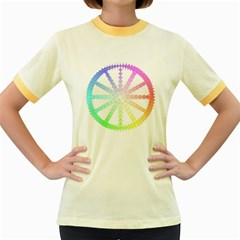 Polygon Evolution Wheel Geometry Women s Fitted Ringer T-Shirts