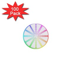 Polygon Evolution Wheel Geometry 1  Mini Buttons (100 Pack)