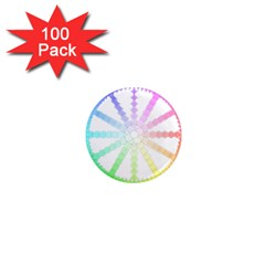 Polygon Evolution Wheel Geometry 1  Mini Magnets (100 Pack)