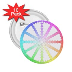 Polygon Evolution Wheel Geometry 2 25  Buttons (10 Pack)