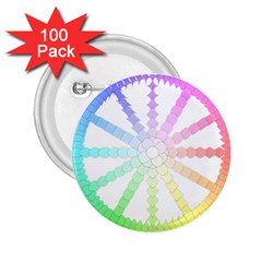 Polygon Evolution Wheel Geometry 2.25  Buttons (100 pack)