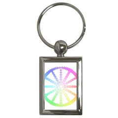 Polygon Evolution Wheel Geometry Key Chains (rectangle)