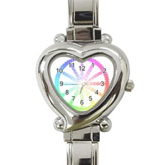 Polygon Evolution Wheel Geometry Heart Italian Charm Watch