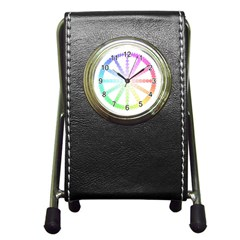 Polygon Evolution Wheel Geometry Pen Holder Desk Clocks