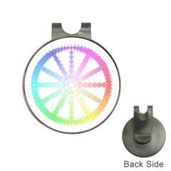 Polygon Evolution Wheel Geometry Hat Clips With Golf Markers