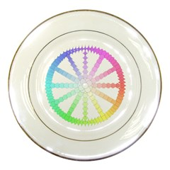 Polygon Evolution Wheel Geometry Porcelain Plates