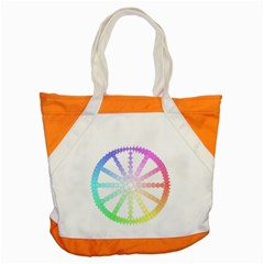 Polygon Evolution Wheel Geometry Accent Tote Bag