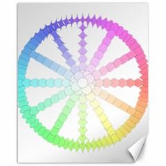Polygon Evolution Wheel Geometry Canvas 16  X 20