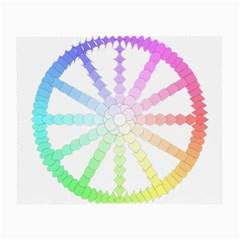 Polygon Evolution Wheel Geometry Small Glasses Cloth (2 Side)
