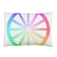 Polygon Evolution Wheel Geometry Pillow Case