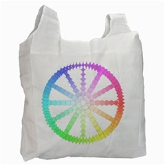 Polygon Evolution Wheel Geometry Recycle Bag (One Side)
