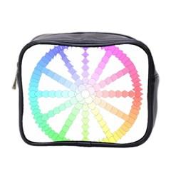Polygon Evolution Wheel Geometry Mini Toiletries Bag 2 Side