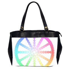 Polygon Evolution Wheel Geometry Office Handbags (2 Sides)