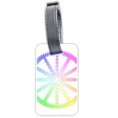 Polygon Evolution Wheel Geometry Luggage Tags (two Sides)