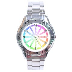 Polygon Evolution Wheel Geometry Stainless Steel Analogue Watch