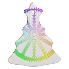 Polygon Evolution Wheel Geometry Ornament (christmas Tree)