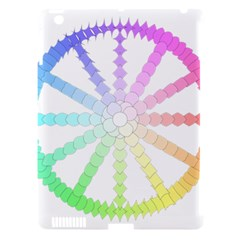 Polygon Evolution Wheel Geometry Apple Ipad 3/4 Hardshell Case (compatible With Smart Cover)