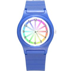 Polygon Evolution Wheel Geometry Round Plastic Sport Watch (s)