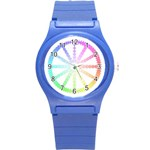 Polygon Evolution Wheel Geometry Round Plastic Sport Watch (S) Front